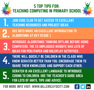 5 TOP TIPS FOR TEACHING COMPUTING IN PRIMARY SCHOOL