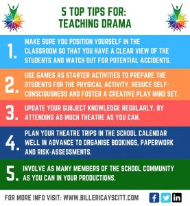 5 TOP TIPS FOR TEACHING DRAMA INFOGRAPHIC
