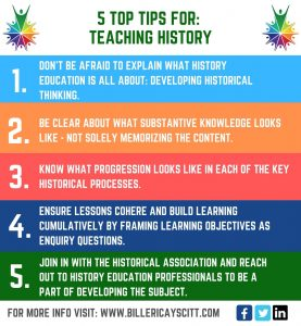 5 TOP TIPS FOR TEACHING HISTORY